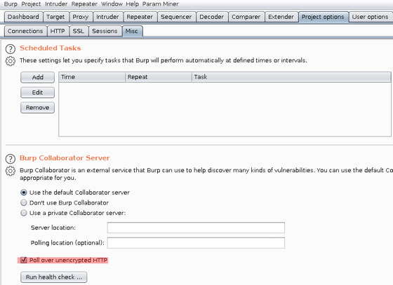 Collaborator polling over HTTP